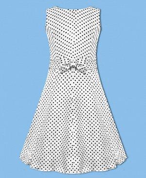 Белое платье в горошек для девочки Цвет: белый