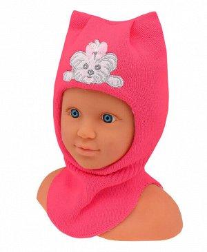 29923-ПШ19 Шлем-шапка р.42/44 Цвет: яр.розовый