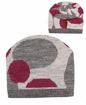 29792-ПШ19 Шапка р.54/56 Цвет: серый
