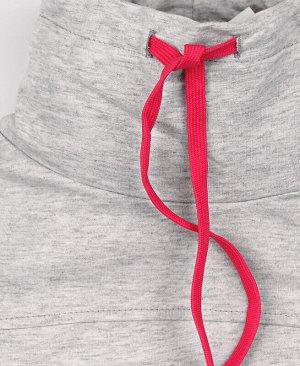 Джемпер для девочки в цвете серый меланж Цвет: светло-серый
