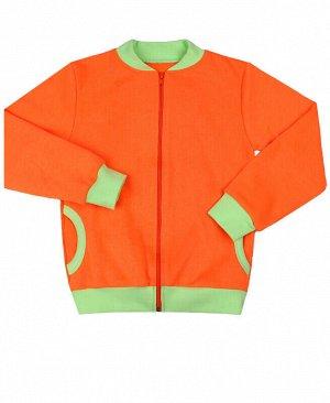 Оранжевый джемпер для девочки с карманами Цвет: оранжевый