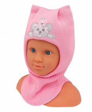 Шлем-шапка для девочки Цвет: розовый
