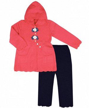 Комплект для девочки Цвет: персиковый+синий