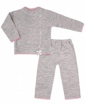 Комплект для девочки Цвет: серый