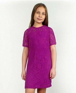 Пурпурное нарядное платье для девочки Цвет: лиловый
