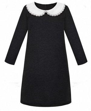 Серое школьное платье для девочки Цвет: серый