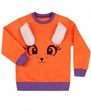 Оранжевый джемпер для девочки Цвет: оранжевый