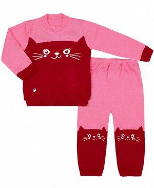 Вязаный костюм для малышей Цвет: розовый