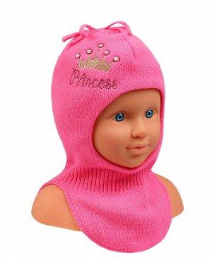 Шапка-шлем для девочки Цвет: розовый