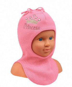 Шапка-шлем для девочки Цвет: св.розовый