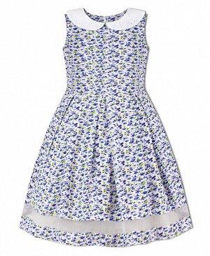 Белое летнее платье для девочек Цвет: белый