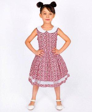 Серое летнее платье для девочек Цвет: серый