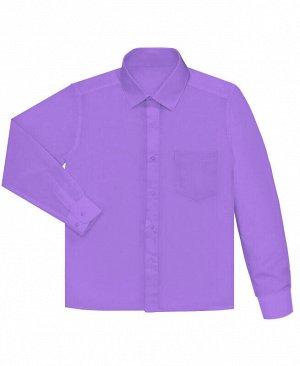 Сиреневая рубашка для мальчика Цвет: яр.сирень