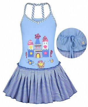 Голубой сарафан для девочки Цвет: голубой