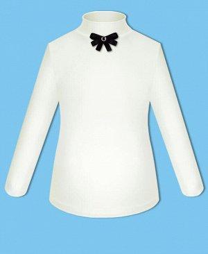 Молочная школьная водолазка (блузка) с бантиком для девочки Цвет: молочный