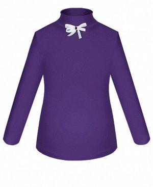 Фиолетовая школьная водолазка (блузка) для девочки Цвет: фиолетовый