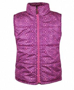 Теплый жилет для девочки Цвет: фиолет