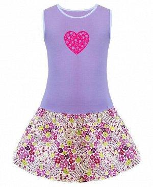 Сиреневый сарафан для девочки Цвет: яр.розовый