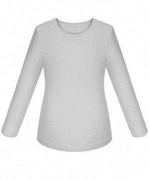 Серый школьный джемпер (блузка)для девочки Цвет: св.серый