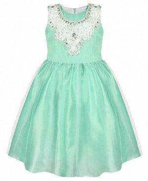 Нарядное платье для девочки ментолового цвета Цвет: ментоловый