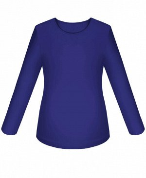 Синий джемпер (блузка) для девочки Цвет: синий
