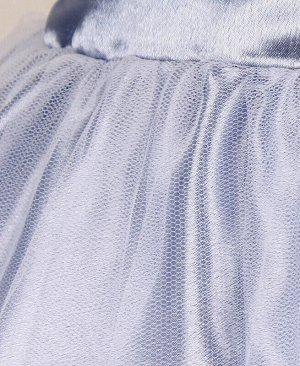 Нарядное платье для девочки серебристо-серого цвета Цвет: серебристо-серый