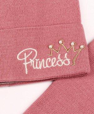 Комплект для девочки (шапка+снуд) Цвет: св.сирень