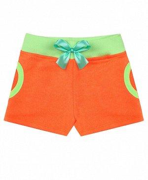 Оранжевые шорты для девочки Цвет: оранжевый