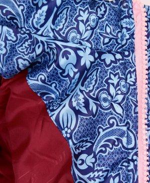 Тёплая синяя куртка для девочки Цвет: синий