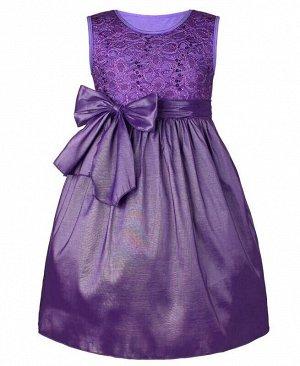 Сиреневое нарядное платье для девочки Цвет: сирень