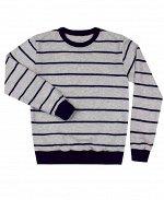 Серый джемпер для мальчика в полоску Цвет: серый