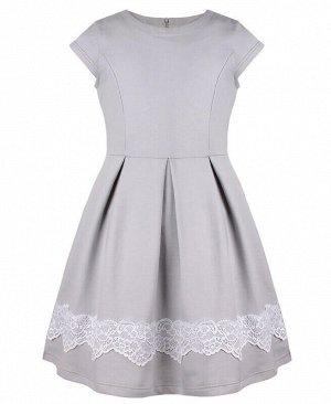 Серое платье для девочки Цвет: серый