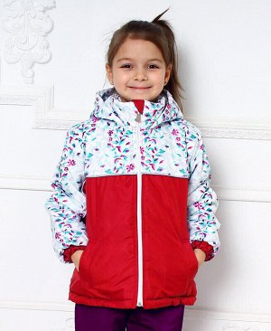 Куртка для девочки на осень-весну Цвет: красный