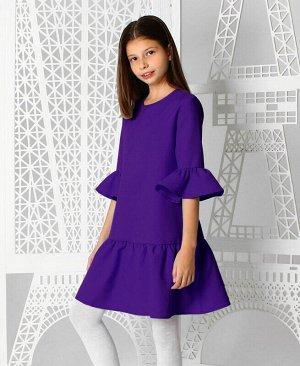 Фиолетовое платье с воланами для девочки Цвет: фиолетовый