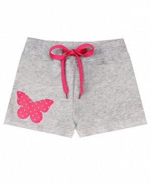 Серые шорты для девочки Цвет: серый