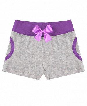 Серые шорты для девочек Цвет: серый