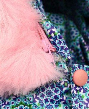 Тёплая куртка для девочки бирюзового цвета Цвет: бирюзовый