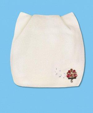 Шапка для девочки Цвет: белый