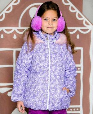 Зимняя куртка для девочки Цвет: сирень