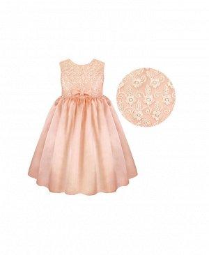 Бежевое нарядное платье для девочки Цвет: персик