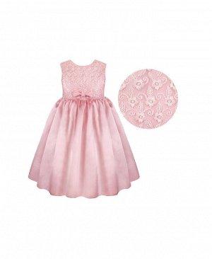 Розовое нарядное платье для девочки Цвет: бл.розовый