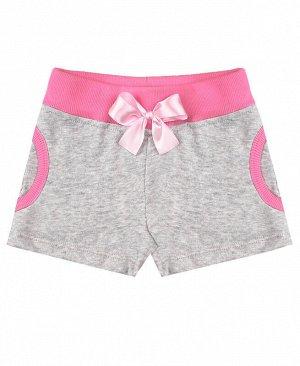 Летние шорты для девочки Цвет: серый