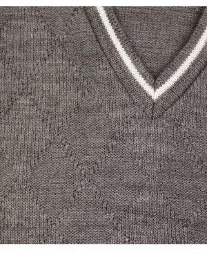 Жилет вязанный для мальчика Цвет: серый