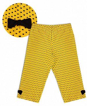 Желтые бриджи для девочки Цвет: желтый