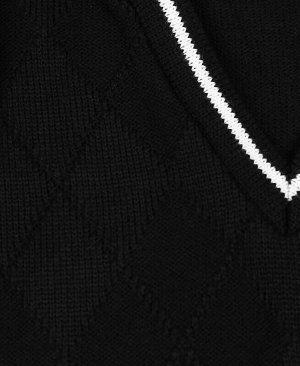 Жилет вязанный для мальчика Цвет: черный