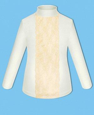 Молочная школьная водолазка (блузка) для девочки Цвет: молочный