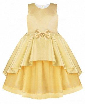 Нарядное платье для девочки персикового цвета Цвет: персиковый