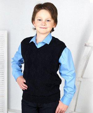 Черный жилет для мальчика Цвет: черный