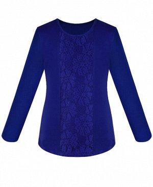 Синий школьный джемпер (блузка)для девочки Цвет: синий