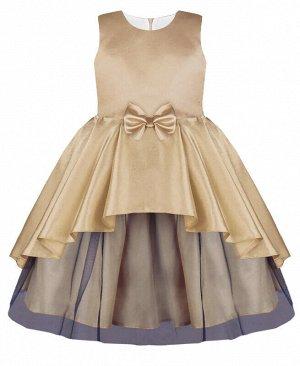 Платье бронзового оттенка для девочки Цвет: бронзовый